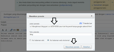 Backlink Website Free Dari Wikipedia Yang Powerful