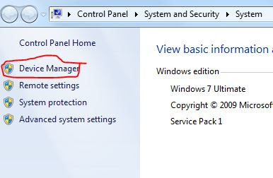 Control Panel Home Windows 7
