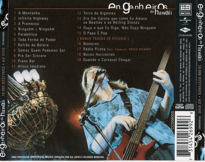 IMEDIATO CD BAIXAR DO ENGENHEIROS HAWAII ALIVIO