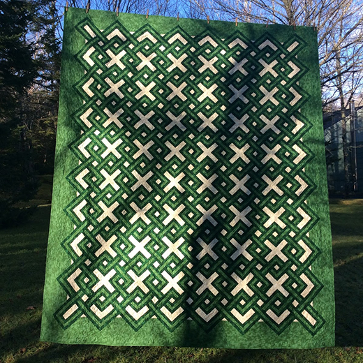Irish Plaid Quilt made by Kathy Porter of AlliKat Quilts, The Pattern designed By Marcia Hohn of Quilters Cache