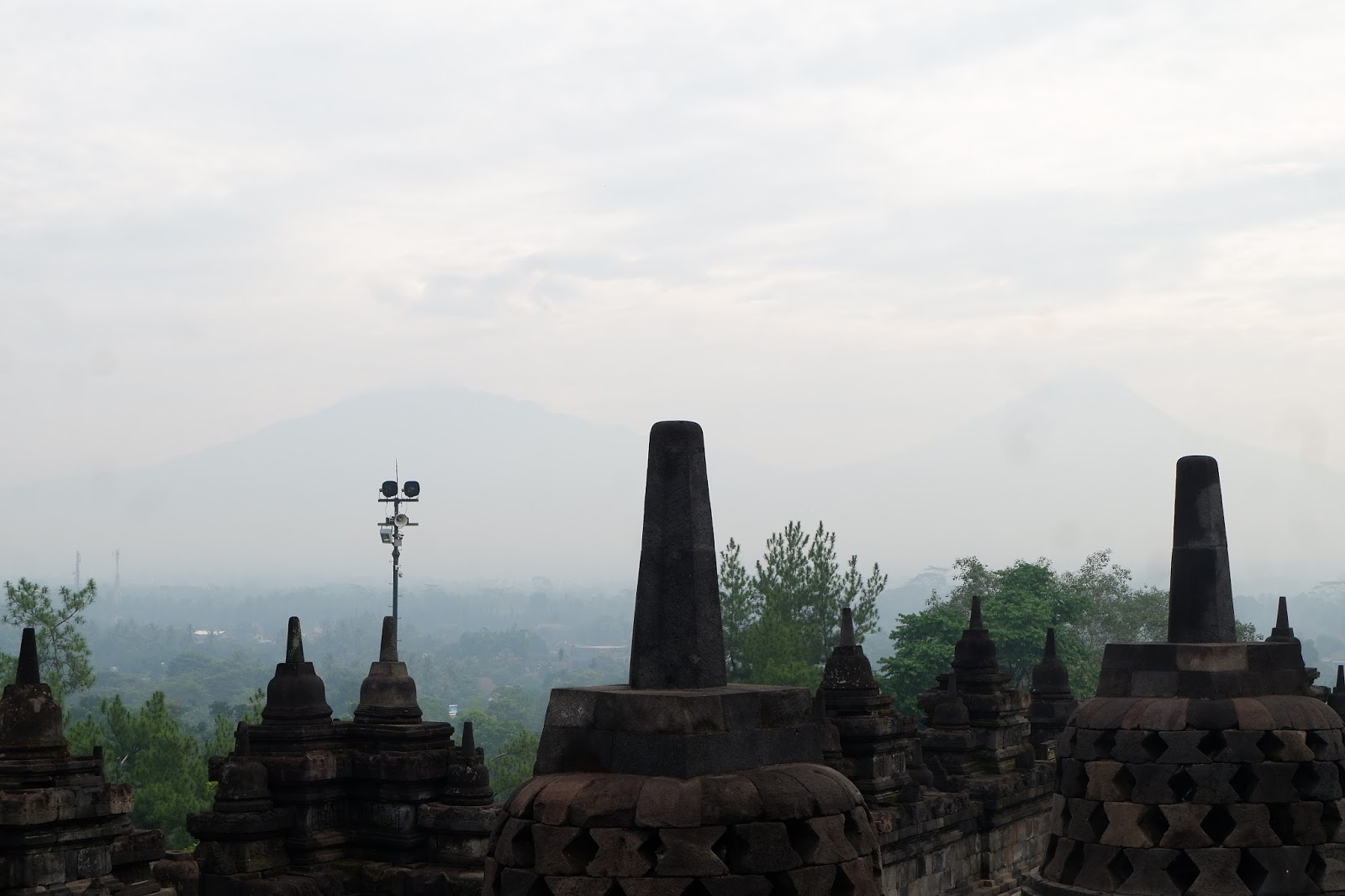 amazing view of Borobudur