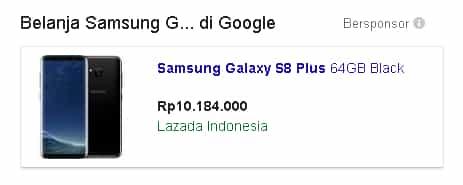 harga Samsung Galaxy S8 and S8 Plus di lazada