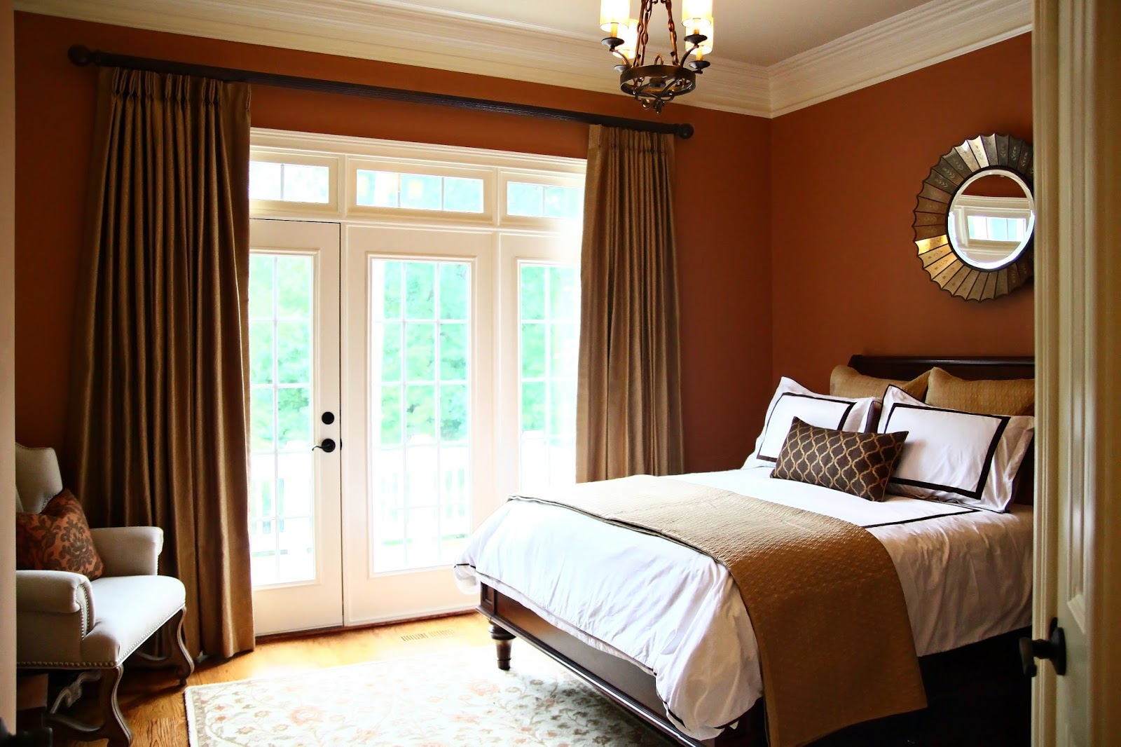 Brown wall colors for bedroom - Generating Best Painting Ideas For Guest Bedrooms