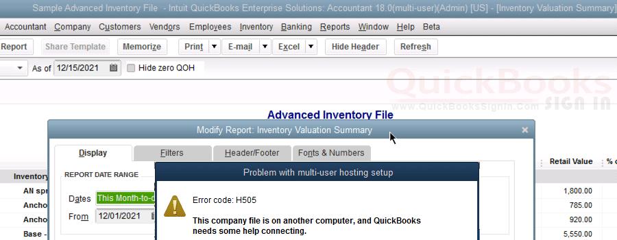 QuickBooks Error H505 [Resolved] |