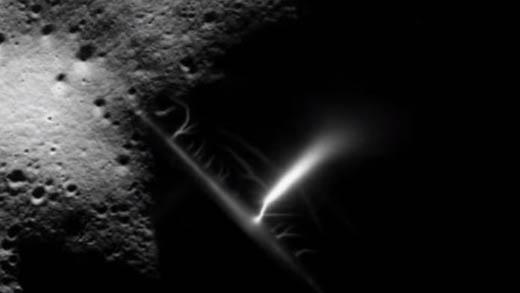 Esta imagen puede ser de una descarga producida en una planta eléctrica en la Luna