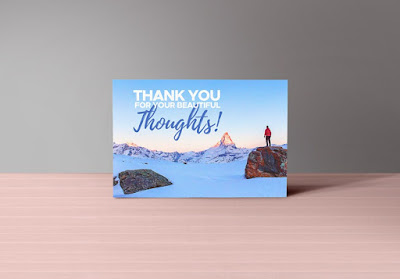 Thank You Notes Card PSD