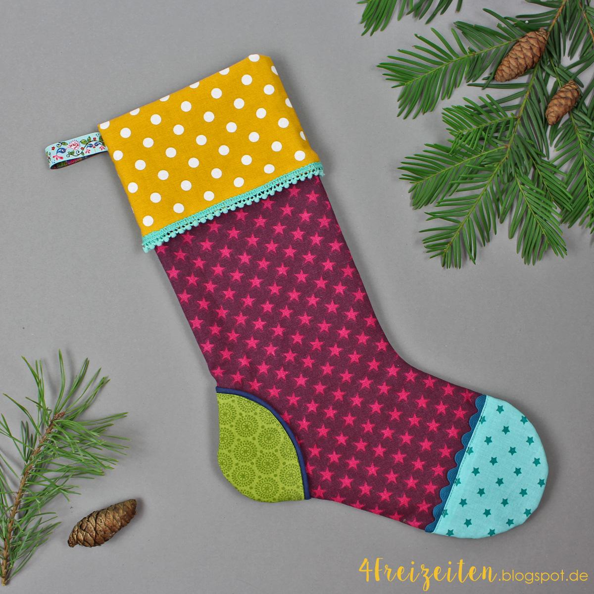 4 Freizeiten: Weihnachten wird bunt - mein Nikolaussocken