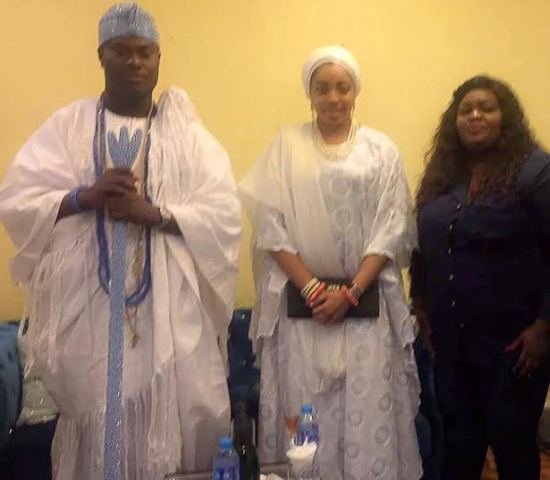 Eniola Badmus meet with the newly couple the  Ooni of ife & Olori of Ife