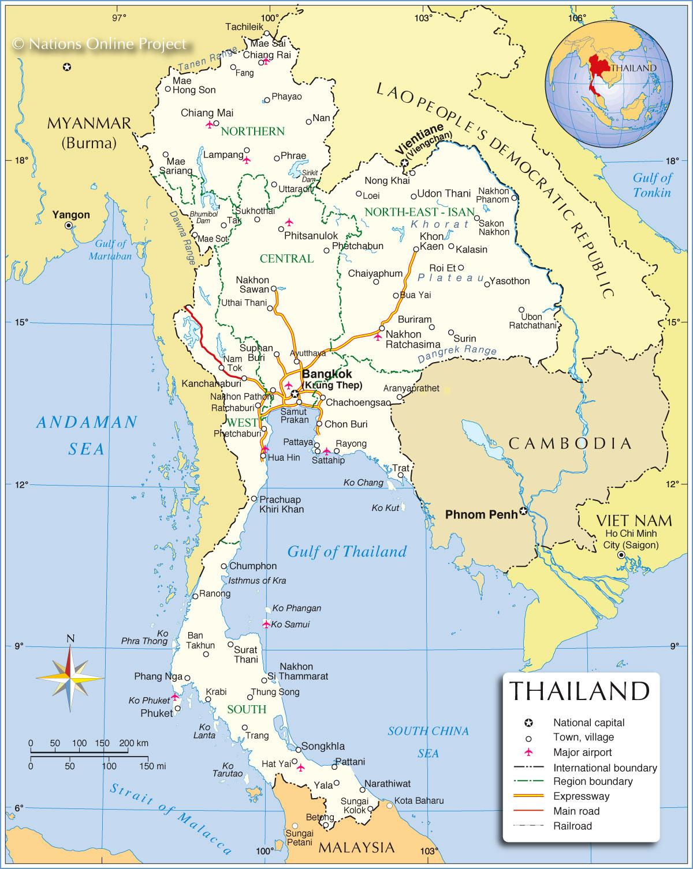 Tanah Genting Kra Terletak Di Negara : tanah, genting, terletak, negara, Negara, Thailand