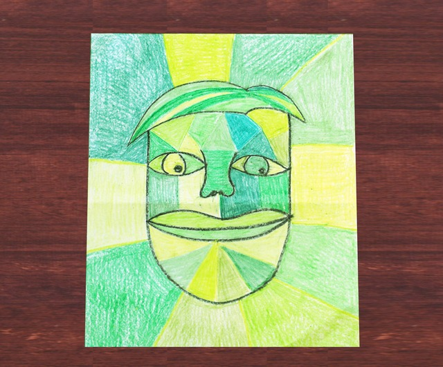 Picasso inspired art for kids- Colouring with emotion.  Exploring famous artists.