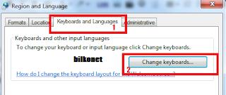 Mengaktifkan keyboard versi arabic - Langkah 3