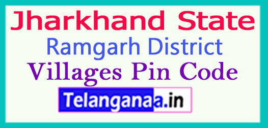 Ramgarh District Pin Codes in Jharkhand State