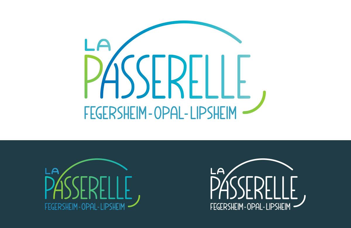 Création logo La Passerelle, passerelle pédagogique inter-centres