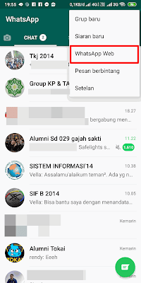 Cara Menghubungkan ke Whatsapp Web