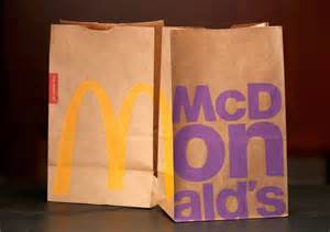 mcdonalds recycled bags