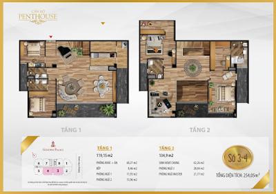 Thiết kế căn Penthouse số 3-4