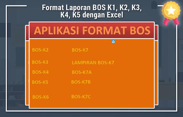 Format Laporan BOS K1, K2, K3, K4, K5 dengan Excel