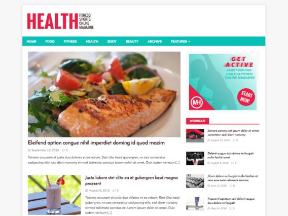 Tema Wordpress Gratis - Health Mag