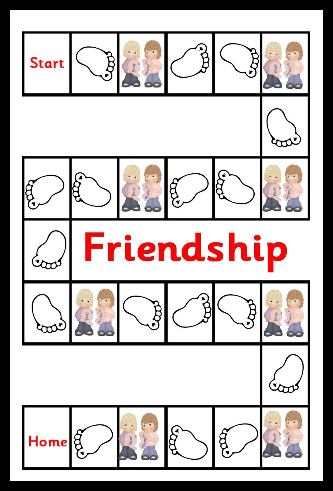 Debbie S Resource Cupboard Friendship Game