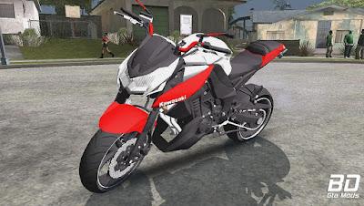 Mod, Moto,Kawasaki Z1000 2013 - leve para GTA San Andreas, GTA SA
