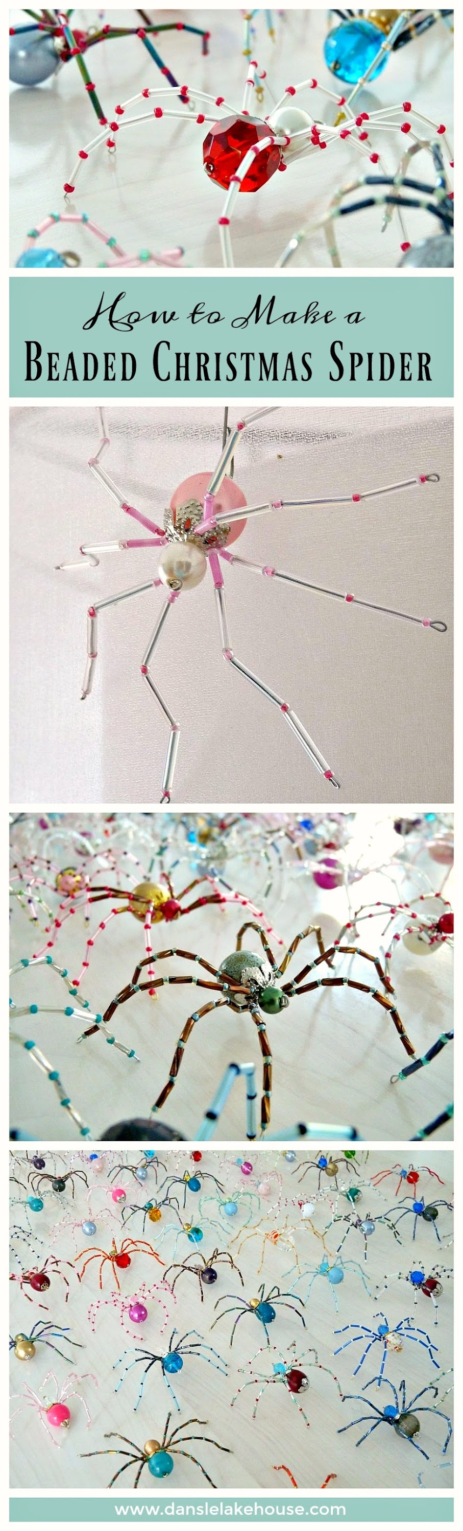 How to make a beaded christmas spider