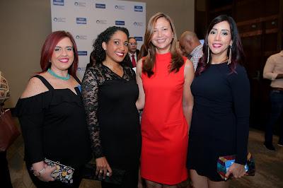 Madeleine Aquino, Katherine Rodriguez, Ivanova Veloz y Carmen Cruz