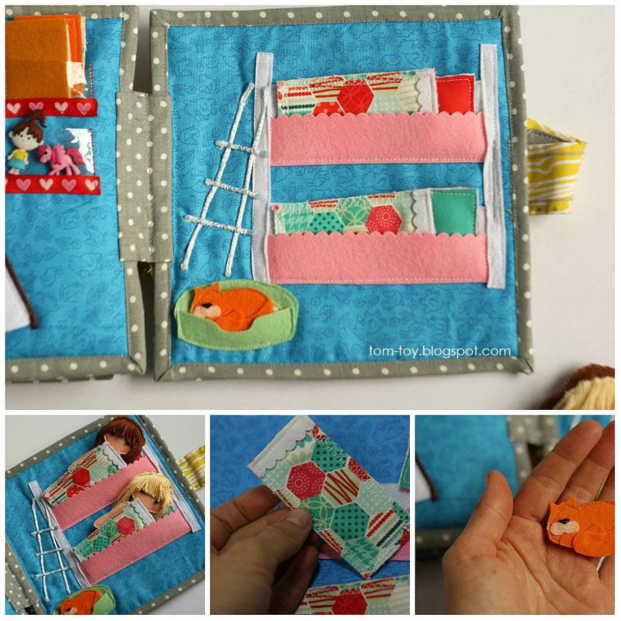 Cora's dollhouse, travel dollhouse, quiet busy book for girls, развивающая книжка, кукольный домик, двухэтажная кровать