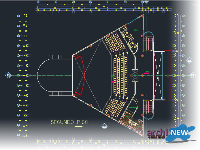 Autocad Theater Project Dwg Theater on 2d House Plan