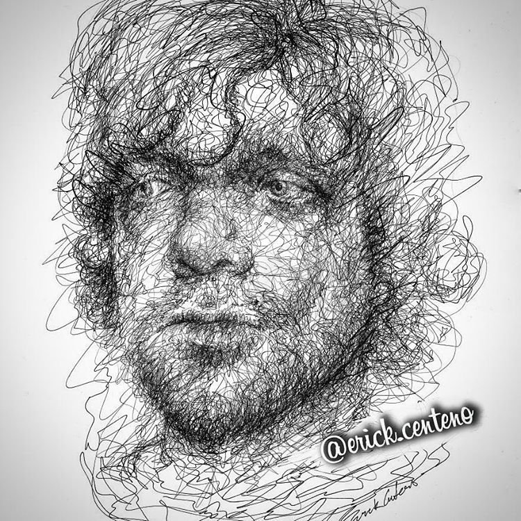 05-Tyrion-Lannister-Game-of-Thrones-Erick-Centeno-Superheroes-Celebrities-and-Cartoons-Scribble-Drawings-www-designstack-co