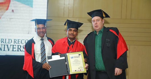 Conferred Honorary Doctorate to Chef M.S.RajMohan