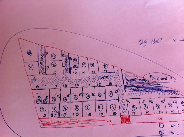 cara menggambar site plan
