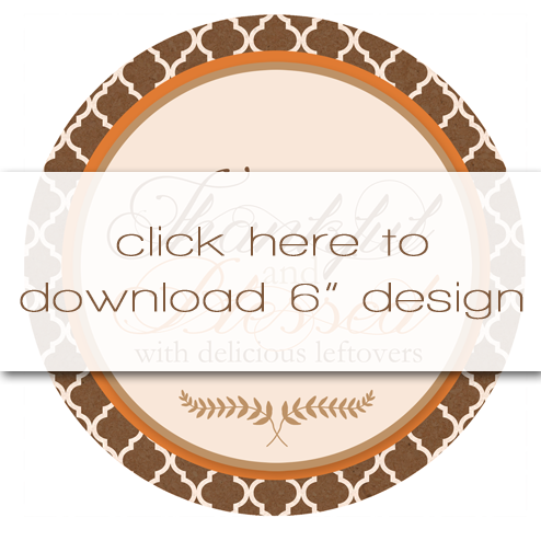 Free Printable Leftover Labels for Thanksgiving Yumminess | Two Designs & Two Sizes Available for Instant Download.