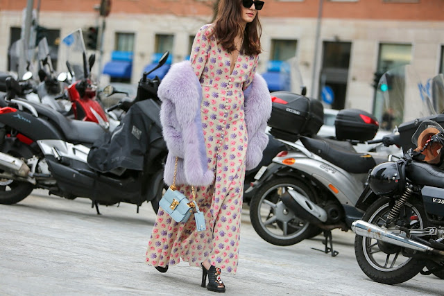 streetstyle milano fashion week - pijiama