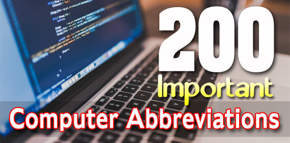 200 Important Computer Abbreviations full forms for Competitive Exams