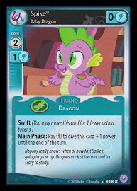 My Little Pony Spike, Baby Dragon Premiere CCG Card