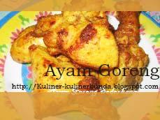 Resep Ayam Goreng Sederhana, Halal Dan Lezat