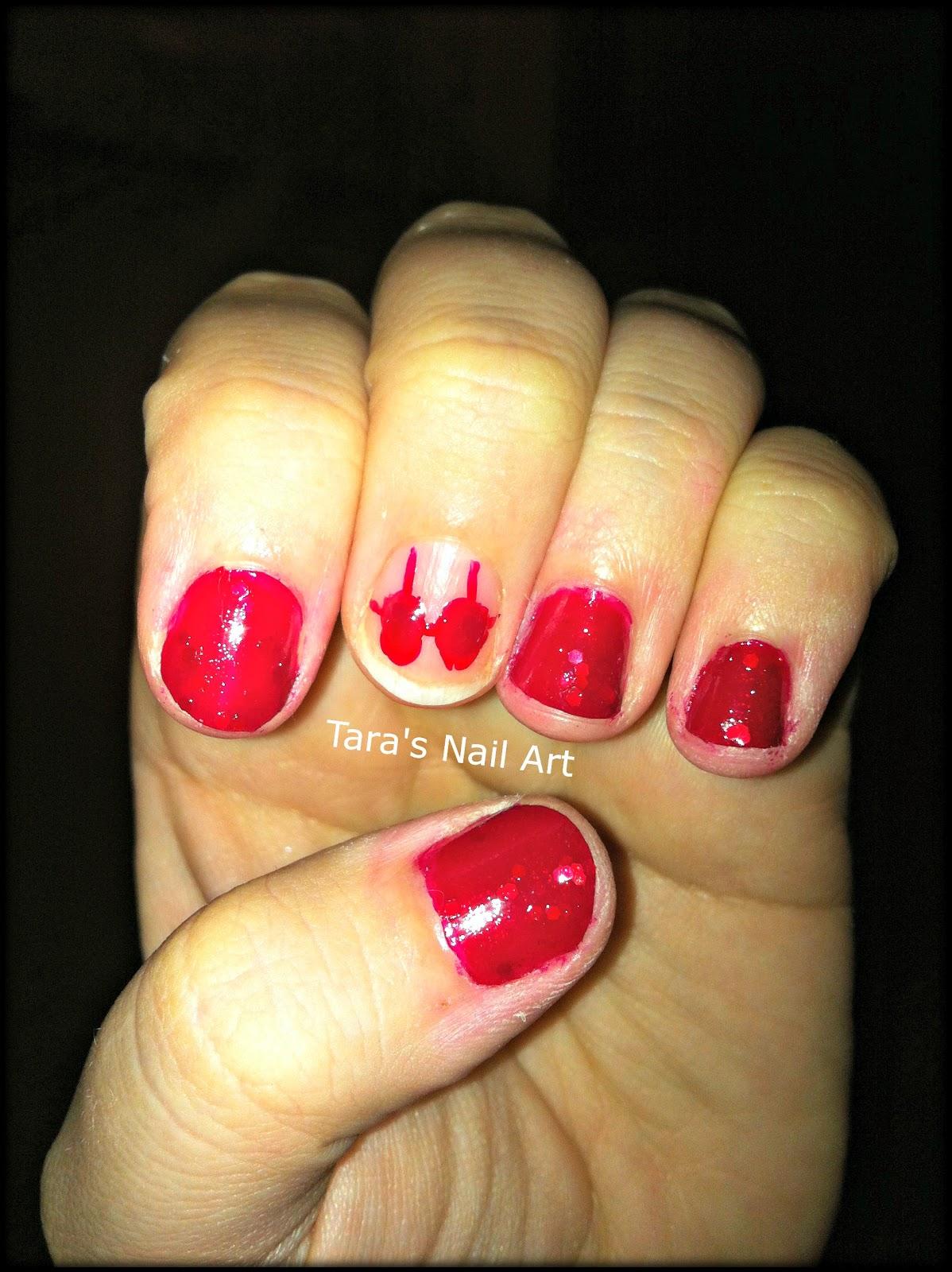 31dc2012 Day 10 Gradient Nails: Tara's Nail Art: 31DC2012: Day 01, Red Nails