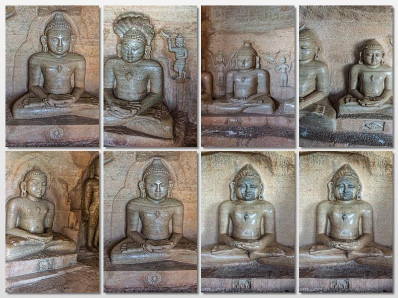 Jain Teerthankars in Kandhagiri Caves