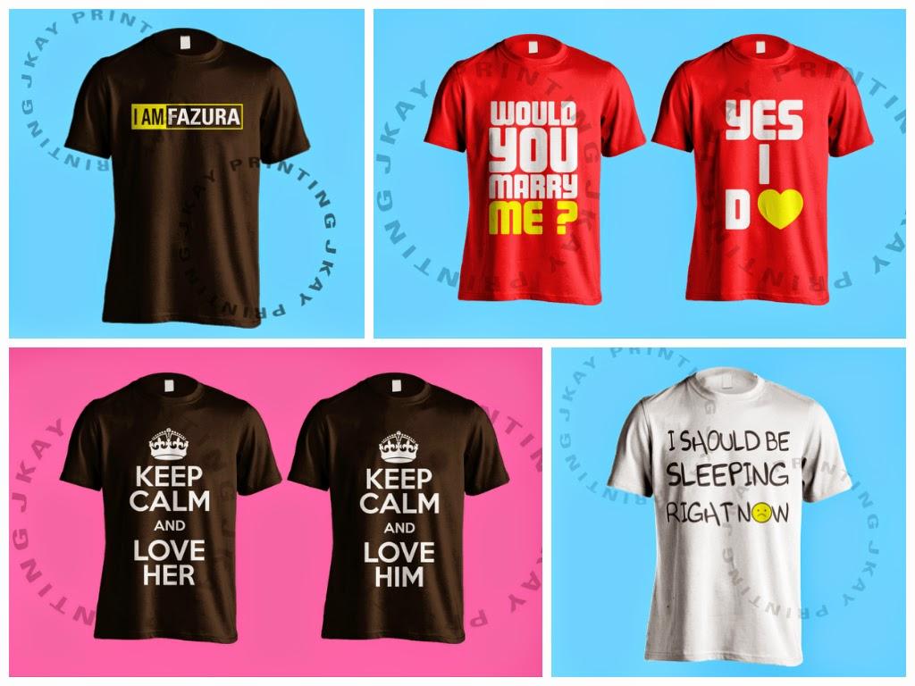 cetak baju tshirt design sendiri malaysia