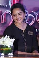 Actress Anushka Shetty Stills in Black Gurthi at Baahubali 2 Press Meet  0009.jpg