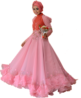 Gaun Pink 7a-004