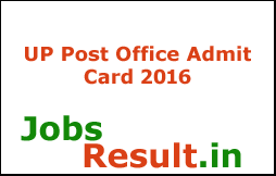 UP Post Office Admit Card 2016