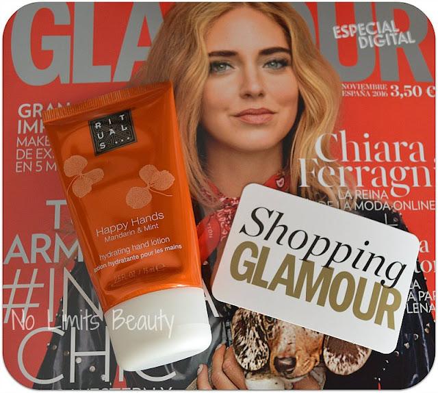 Regalos revistas Glamour noviembre 2016: Cremas de manos Rituals