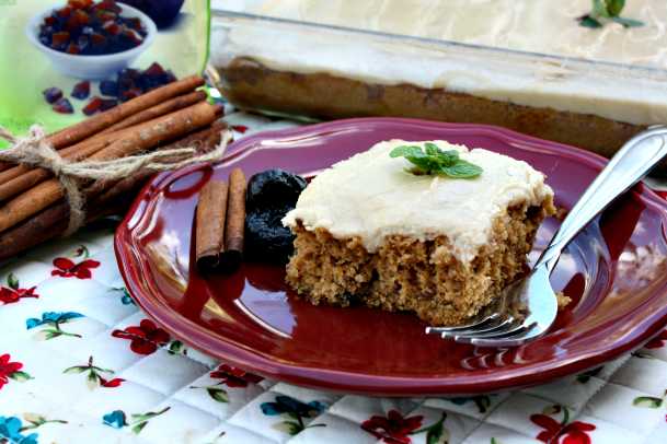 Old Fashioned Prune Cake with Caramel Frosting