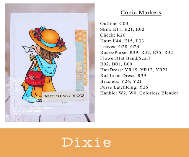 Heather's Hobbie Haven - Color Wednesday - Missing You Dixie Card