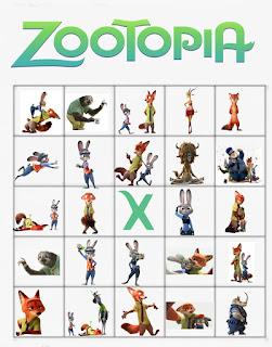 free zootopia bingo