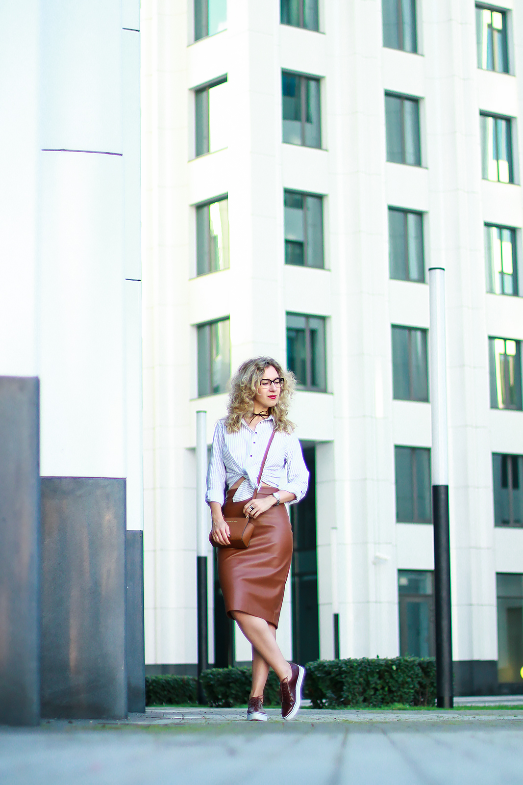 margarita_maslova_leather_skirt_striped_shirt_marsala_brogues