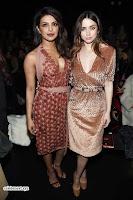 Priyanka Chopra is all brown in a deep neck beautiful dress at Bottega Veneta Show during NYFW ~  Exclusive 002.jpg