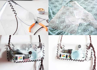 bolsos, bolsas, pvc, plástico, transparentes, complementos, manualidades