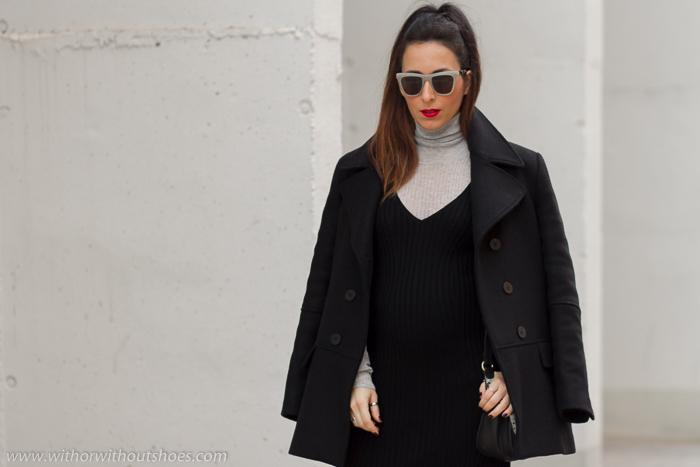 Look blogger influencer con ideas para vestir embarazada con ropa comoda de Zara
